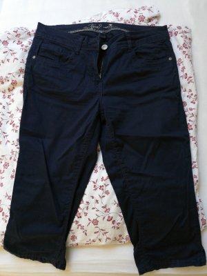 Tom Tailor Pantalón capri azul oscuro