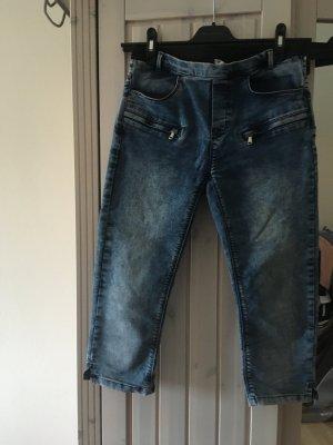 Culture Jeans a 3/4 azzurro-blu scuro