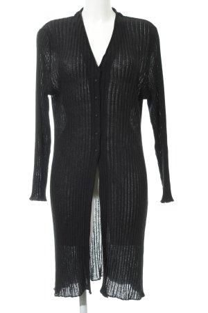 Capuccino Cardigan schwarz minimalistischer Stil