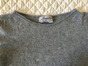 Maglione a maniche corte grigio Lana