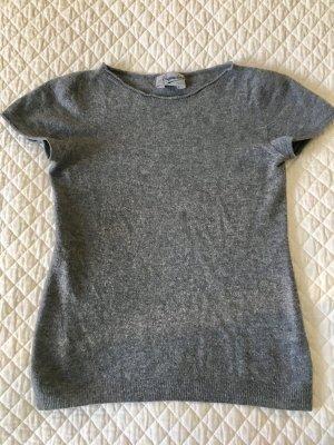 Pull à manches courtes gris laine