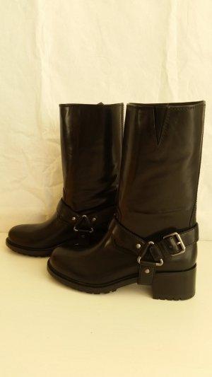 Car Shoe, Biker-Boots, Leder, schwarz, EUR 41, neu, € 800,-