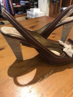 Car shoe braun Schleife Sandale Gr. 37,5