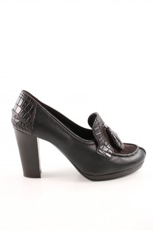 Car Shoe High-Front Pumps black-brown animal pattern business style