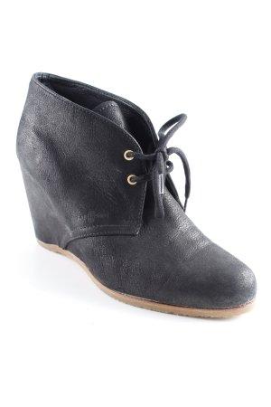 Car Shoe Wedge Booties black casual look