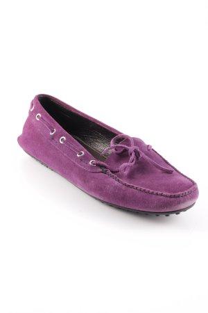 Car Shoe Mocassins violet élégant