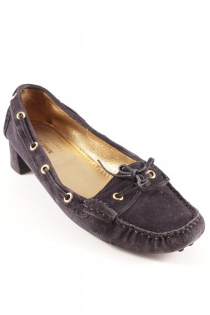 Car Shoe Loafer blu scuro stile classico