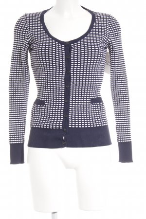Caractère Knitted Twin Set white-dark blue striped pattern business style