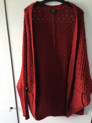 Bershka Cardigan dark red-carmine