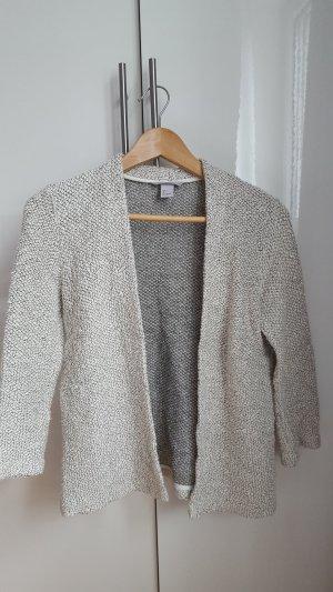 H&M Cardigan wit-grijs Katoen