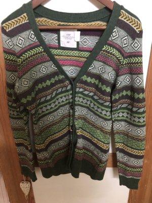 H&M Gilet tricoté vert foncé