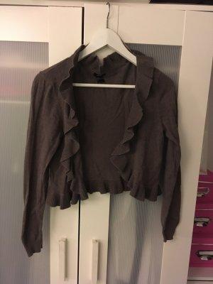 H&M Cardigan grey brown-taupe cotton