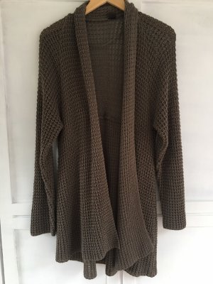 M&S Knitted Cardigan grey brown