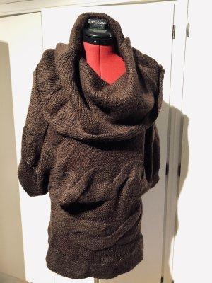 Dolce & Gabbana Cárdigan de ganchillo marrón oscuro