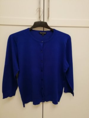 Cable & Gauche Short Sleeve Sweater blue rayon