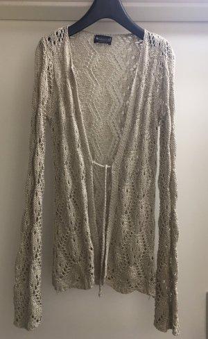 Laura Scott Cardigan en crochet beige clair