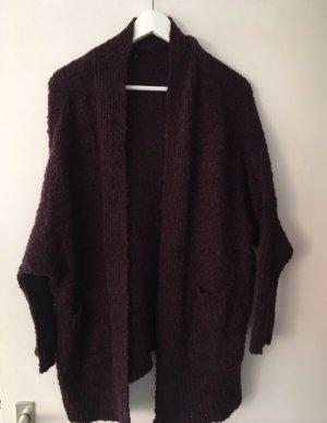Zara Cardigan brown violet-bordeaux