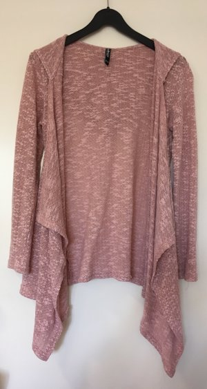 Colours of the World Crochet Cardigan rose-gold-coloured