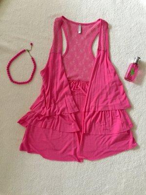 Cardigan ärmellos Größe S in pink