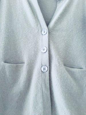 Cardigan aus Kaschmir hellgrau/hellblau