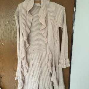 Cardigan aus wolle in Rose