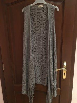 Hollister Cardigan tricotés argenté-gris clair