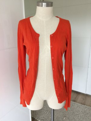 Review Cardigan rouge brique