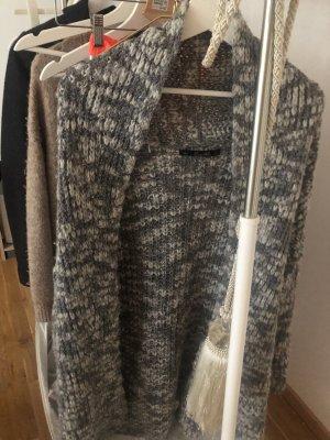 Zara Cárdigan de ganchillo gris-color plata