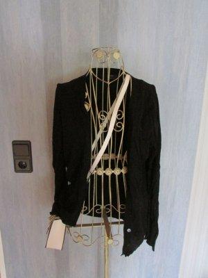 Cardigan Basic Schwarzer Basic Cardigan von Zara zum zuknöpfen
