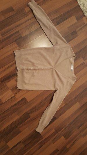 Zara Cardigan brun sable coton