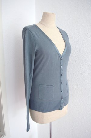 Cardigan Blau 100% Cotton Neu