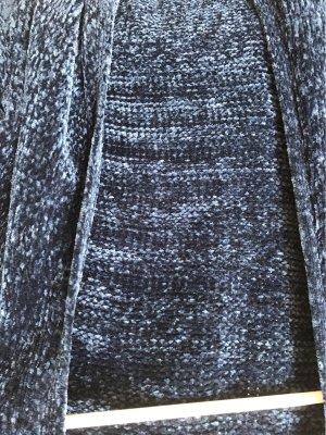 Cárdigan de punto grueso azul oscuro
