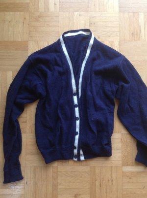 Cardigan blau Wolle M