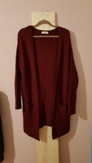 24Colours Cardigan tricotés rouge carmin-bordeau