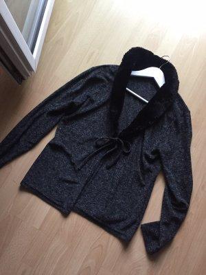 Knitted Cardigan black-dark grey