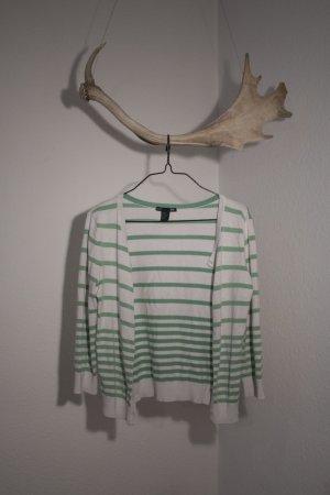 H&M Cardigan blanc cassé-vert clair