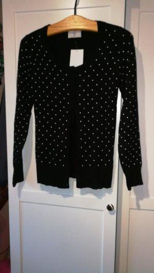 Knitted Vest white-black