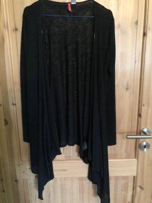 Cardigan drapiert schwarz Gr.M