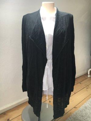 Q/S Fringed Vest black