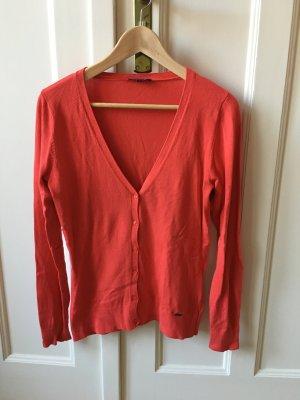 More & More Veste en tricot orange fluo-orange viscose