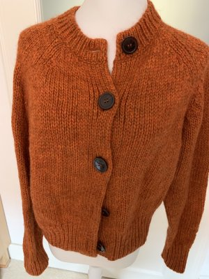 Edited Knitted Vest dark orange