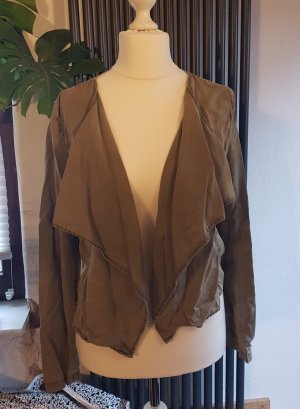 Cardigan Gr. 38 khaki Only Wasserfall-Optik