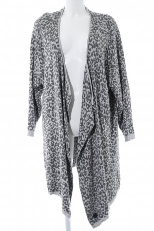 Cardigan grey-light grey leopard pattern casual look