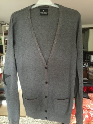 Cardigan Grau m. Lurex Wolle Maison Scotch * wie neu