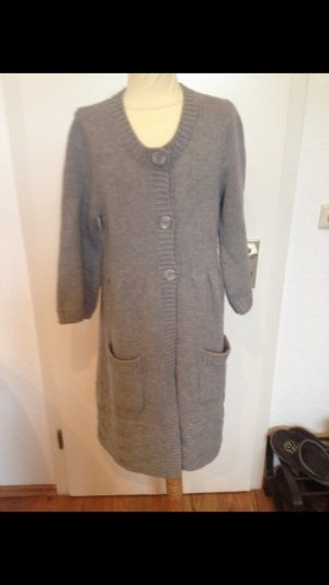 #Cardigan #grau #Strickjacke #lange Strickjacke