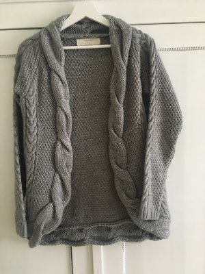 Cardigan graue Strickjacke