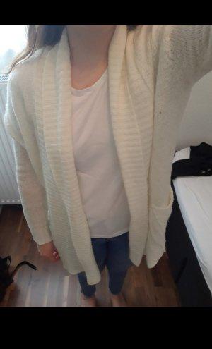 Cardigan Größe S (eher 40/42) Strickweste Langarm Weiß / Creme