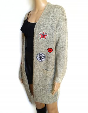 Cardigan hell Beige mit Sticker Gr.36/38/(40)