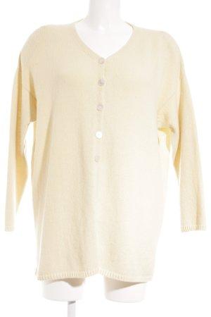 Cardigan jaune clair style classique