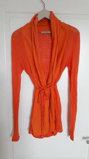 Cardigan Hippie Boho Yoga Leinen Baumwolle orange